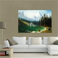 Atlantis Tablo Karlı Dağ Manzarası 75X50 Cm