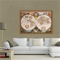 Atlantis Tablo Dünya Haritası 70X50 Cm