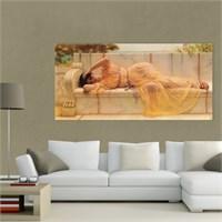 Atlantis Tablo Sarı Elbiseli Kadın 80X40 Cm