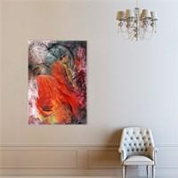 Atlantis Tablo Kırmızı Elbiseli Kadın 50X70 Cm