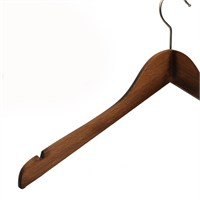 Nyn Ahşap 10'lu Ceviz 44 cm Elbise Gömlek Askısı