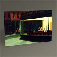 Tablo 360 Edward Hopper Gece Kuşları Tablo 45X30