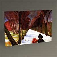 Tablo 360 Edvard Munch Snow Falling İn The Lane Tablo 45X30
