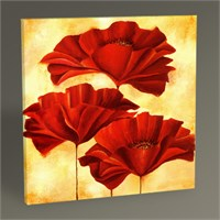 Tablo 360 Three Poppies Iı Tablo 30X30