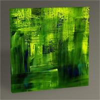 Tablo 360 Yeşil Soyut Yağlı Boya Tablo 100X100