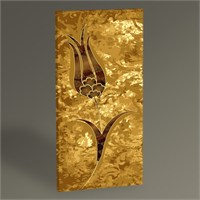 Tablo 360 Altın Ebru Tablo 60X30