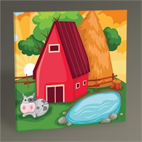 Tablo 360 Cartoon Farm Tablo 30X30
