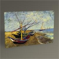 Tablo 360 Vincent Van Gogh Balıkçı Tekneleriı Tablo 45X30