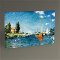 Tablo 360 Claude Monet Argenteuil'de Kırmızı Tekneler 45X30