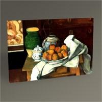Tablo 360 Paul Cézanne Fruit And Fabric 45X30