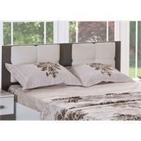 Alpino Tual Yatak Odası Karyola Başucu Beyaz - Granit
