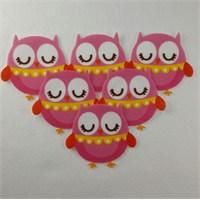 Desenli Keçeler Ütüyle Yapışabilen Baykuş Desenli Keçe Aplike