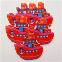 Desenli Keçeler Ütüyle Yapışabilen Gemi Desenli Keçe Aplike