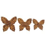 Gold Dekor Kelebek Duvar Aksesuarı 3 Boy Altın Renk