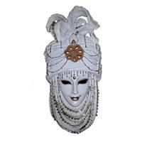 Gold Dekor Saray Maske Sedef Renk