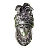 Gold Dekor Saray Maske Gümüş Renk
