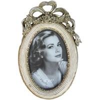 Gold Dekor Antik Resimlik Oval Gümüş Renk 10*15