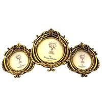 Gold Dekor Leros Gönen 3 Lü Resimlik
