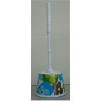 Mavi Papatyalı Melamin Tuvalet Fırçası