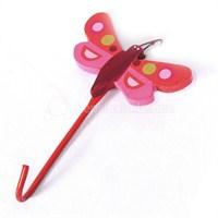 Askı Kücük Kelebek Şekilli Kırmızı Renkli Model
