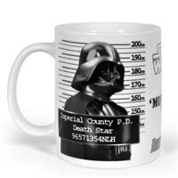 Sd Toys Star Wars Darth Vader Police Record Seramik Kupa Bardak