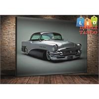 Tablo İstanbul Classic Araba Led Işıklı Kanvas Tablo 45*65 Cm