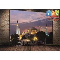 Tablo İstanbul Ayasofya Gece Led Işıklı Kanvas Tablo 45*65 Cm