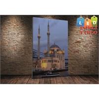 Tablo İstanbul Ortaköy Cami İstanbul Led Işıklı Kanvas Tablo