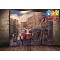 Tablo İstanbul Taksim Oil Paint Led Işıklı Kanvas Tablo