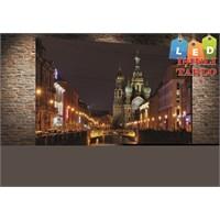 Tablo İstanbul Rusya Moscow Led Işıklı Kanvas Tablo