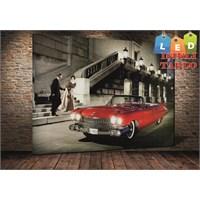 Tablo İstanbul Aşıklar Ve Classic Araba Led Işıklı Tablo