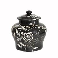 Yargıcı El İşlemeli Seramik Pot ( 25 X 27 Cm)