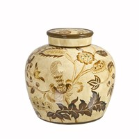 Yargıcı El İşlemeli Seramik Pot ( 28 X 26 Cm)