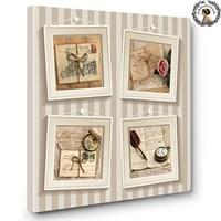 Artred Gallery Beyaz Çerçeveler Kanvas Tablo 60X60