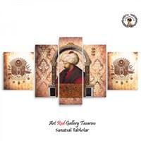Artred Gallery 5 Parçalı Sultan Kanvas Tablo125X56