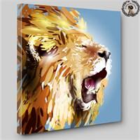Artred Gallery 60X60 İllustrasyon Aslan Işıklı Tablo