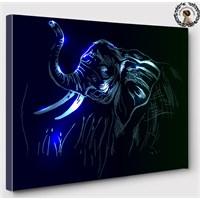Artred Gallery 60X60 İllutrasyon Fil Işıklı Tablo
