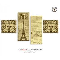 Artred Gallery Paris 4 Parça 114X63 Tablo