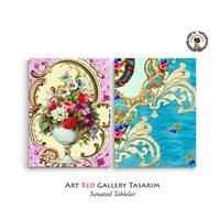 Artred Gallery 2 Parça Duvar Kağıtları 83X55 Tablo-3