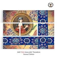 Artred Gallery Beş Parça Çini Tablo 126X95