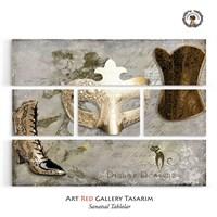 Artred Gallery Beş Parça Lady Tablo126X95