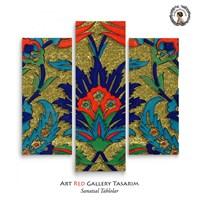 Artred Gallery Çini Üç Parça 90X95 Tablo