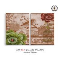Artred Gallery Dekubaj Kuş İki Parça 83X55Tablo