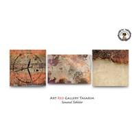 Artred Gallery Eski Üç Parça Saatli Tablo50X165