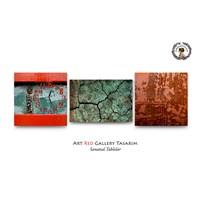 Artred Gallery Kırmızı Eski Üç Parça Saatli Tablo 50X165