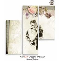 Artred Gallery Lady Üç Parça 100X95 Tablo