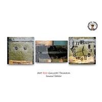 Artred Gallery Metal Yüzeyler Saatli Tablo 50X165