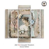 Artred Gallery Valentina Serisi Üç Parça 70X95 Tablo-23
