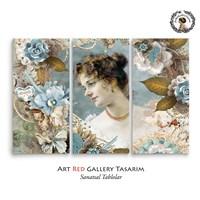 Artred Gallery Valentina Serisi Üç Parça 75X115 Tablo-18
