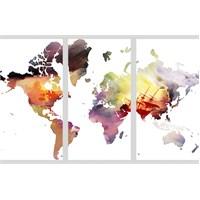Artred Gallery World Üç Parça 75X115 Tablo